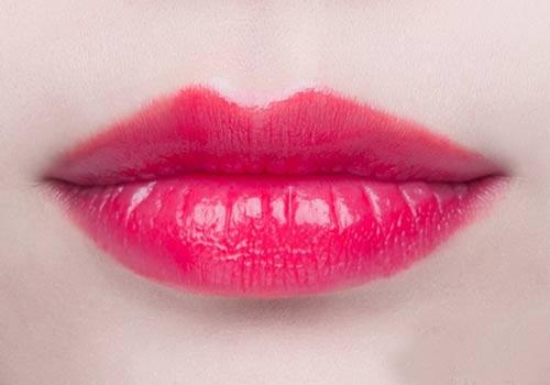 厚唇怎么画口红