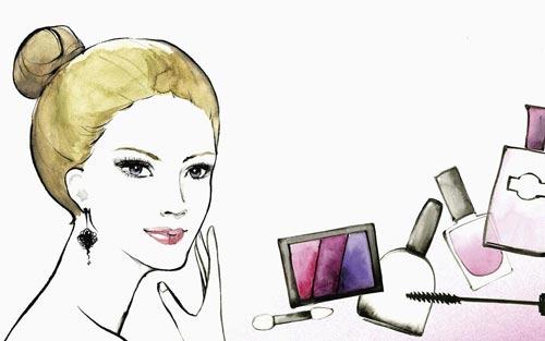 涂化妆品的步骤